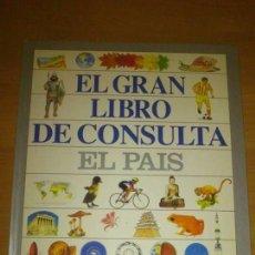 Enciclopedias de segunda mano: EL GRAN LIBRO DE CONSULTA EL PAIS. Lote 137186970