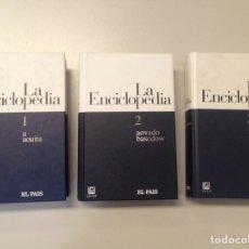 Enciclopedias de segunda mano: LA ENCICLOPEDIA 1,2 Y 3 - EL PAÍS. Lote 137460194