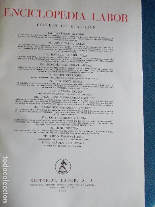 Enciclopedias de segunda mano: Enciclopedia Labor 1962 9 tomos - Foto 3 - 137481418
