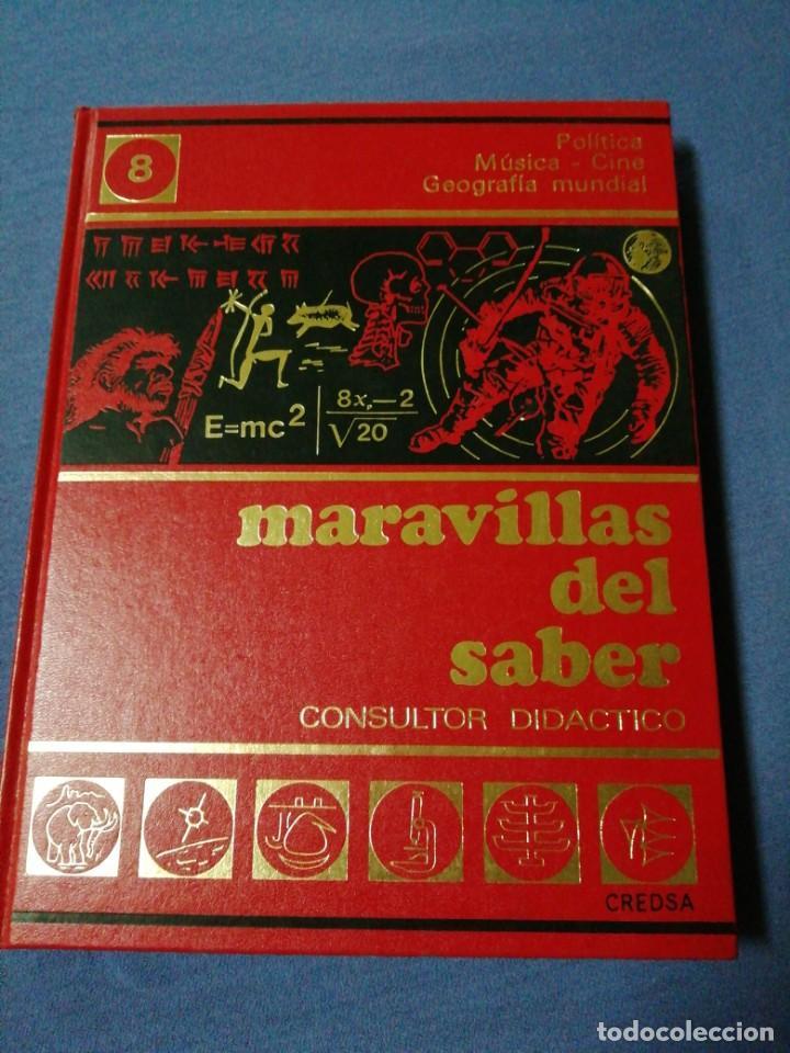 MARAVILLAS DEL SABER. TOMO 8. POLÍTICA. MÚSICA - CINE. GEOGRAFÍA MUNDIAL. (Libros de Segunda Mano - Enciclopedias)