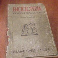 Enciclopedias de segunda mano: ENCICLOPEDIA CÍCLICO PEDAGÓGICA. GRADO SUPERIOR DALMAU CARLES PLA. Lote 137972020