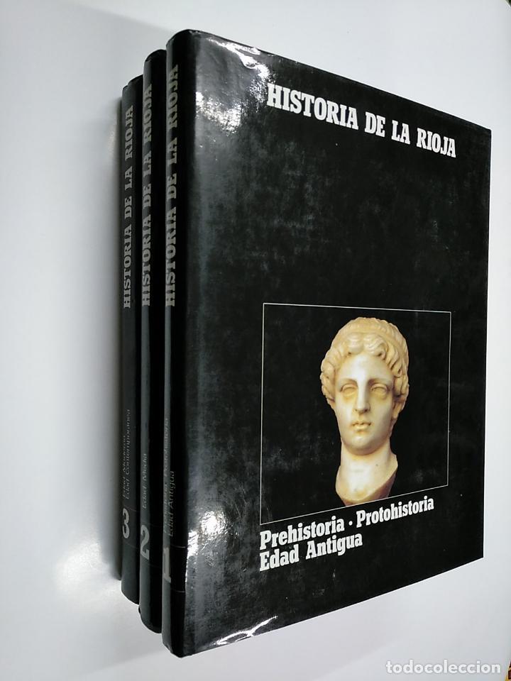 HISTORIA DE LA RIOJA. 3 TOMOS VOLUMENES. COLECCION COMPLETA. TDK356 (Libros de Segunda Mano - Enciclopedias)