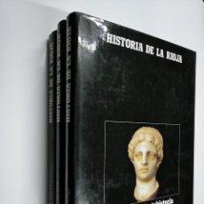 Enciclopedias de segunda mano: HISTORIA DE LA RIOJA. 3 TOMOS VOLUMENES. COLECCION COMPLETA. ARM09. Lote 140257874