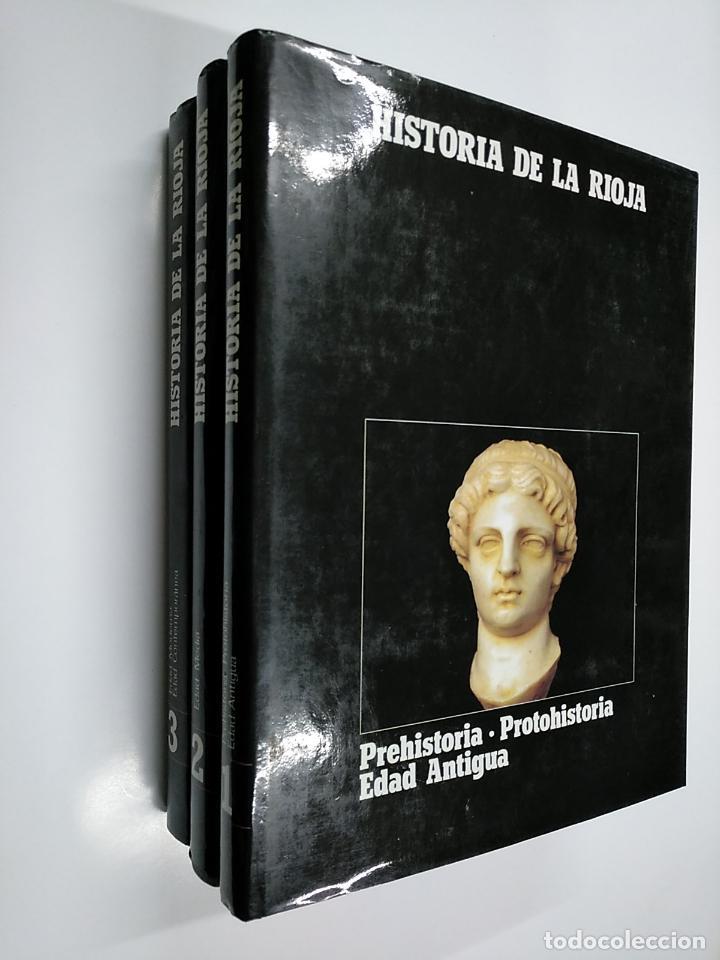 Enciclopedias de segunda mano: HISTORIA DE LA RIOJA. 3 TOMOS VOLUMENES. COLECCION COMPLETA. Arm09 - Foto 2 - 140257874
