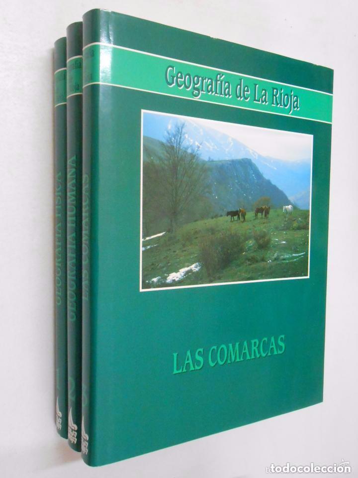 GEOGRAFIA DE LA RIOJA. VV.AA. 3 VOLUMENES. TOMOS. TDK356 (Libros de Segunda Mano - Enciclopedias)