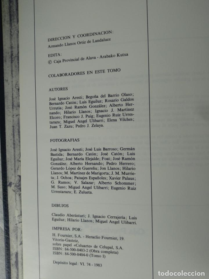 Enciclopedias de segunda mano: ÁLAVA EN SUS MANOS - CAJA PROVINCIAL DE ÁLAVA - 5 TOMOS - HERACLIO FOURNIER - VITORIA - 1983 - - Foto 3 - 140739782