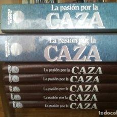 Enciclopedias de segunda mano: LA PASION POR LA CAZA-COLECCION COMPLETA 5 TOMOS+ 2 CARPETAS-PLANETA-1993. Lote 140911946