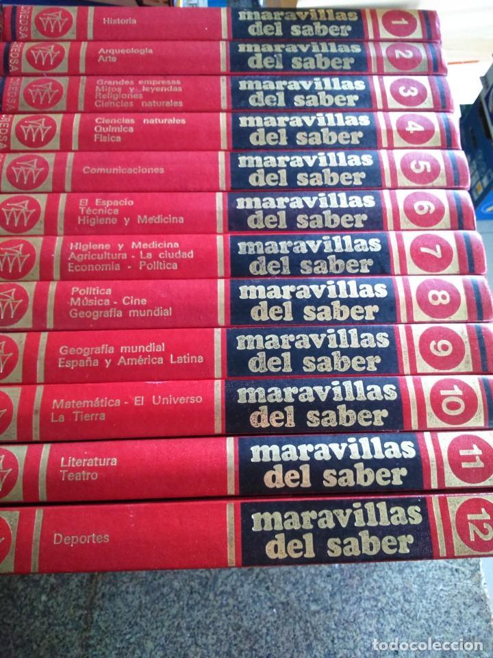 MARAVILLAS DEL SABER -- COMPLETA 12 TOMOS -- 1978 -- (Libros de Segunda Mano - Enciclopedias)