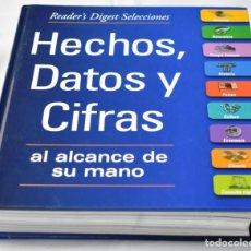 Enciclopedias de segunda mano: HECHOS, DATOS Y CIFRAS ASL ALCANCE DE SU MANO. Lote 142957606