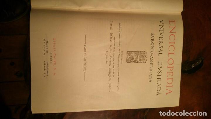 Enciclopedias de segunda mano: Enciclopedia Universal Ilustrada. Europeo Americana. Tomo VII (Apéndice) - Espasa Calpe - Foto 5 - 146195134