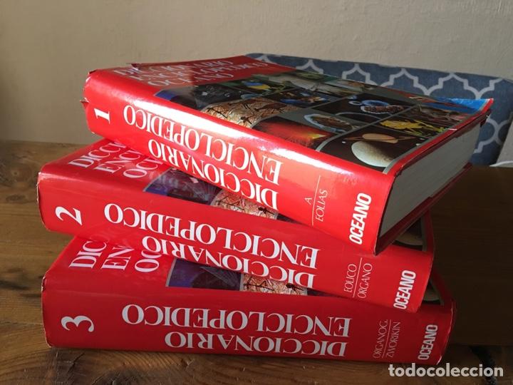DICCIONARIO ENCICLOPÉDICO OCÉANO 3 TOMOS - EDICIÓN 1990 - ILUSTRADO (Libros de Segunda Mano - Enciclopedias)