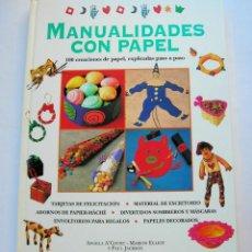 Enciclopedias de segunda mano: MANUALIDADES CON PAPEL. 100 CREACIONES DE PAPEL, EXPLICADAS PASO A PASO. Lote 146983642