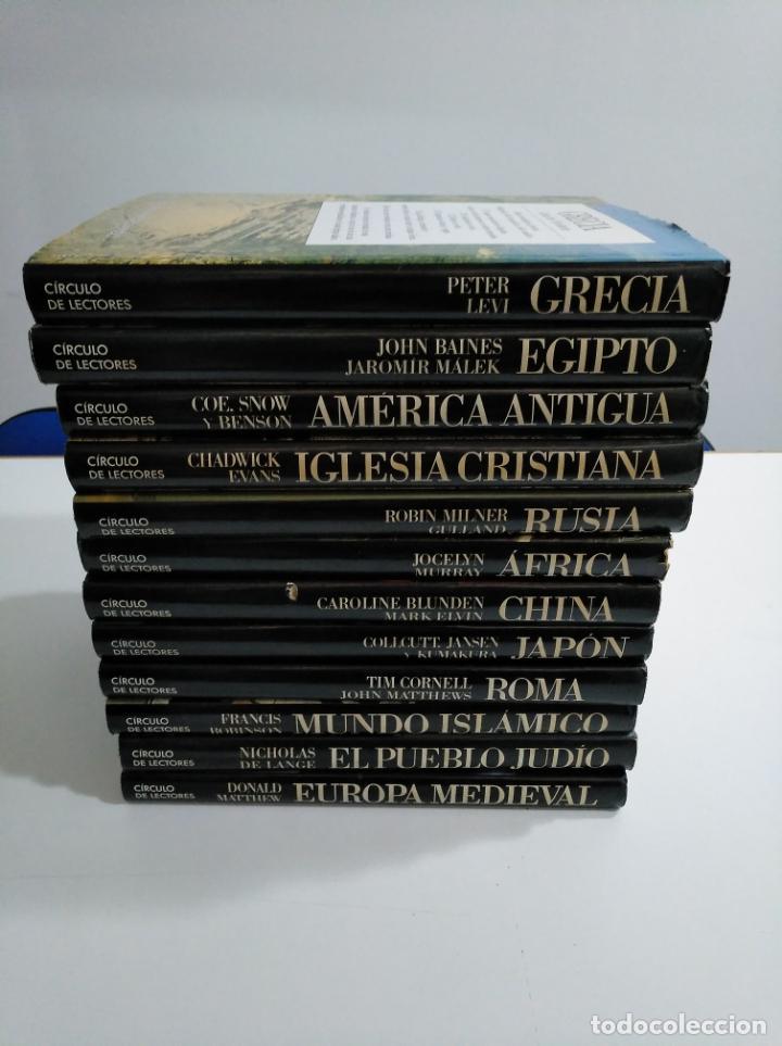 ATLAS CULTURALES DEL MUNDO. CIRCULO DE LECTORES. 12 TOMOS VOLUMENES. TDKLT (Libros de Segunda Mano - Enciclopedias)
