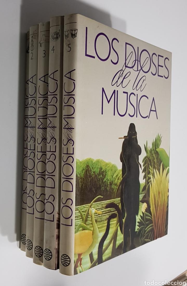 LOS DIOSES DE LA MUSICA 5 TOMOS -. PLANETA. - COMPLETA - ARM05 (Libros de Segunda Mano - Enciclopedias)