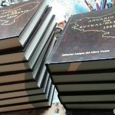 Enciclopedias de segunda mano: ANUARIO DE EUSKAL HERRIA. 1977-1989. 13 TOMOS TAPA DURA. Lote 149368445