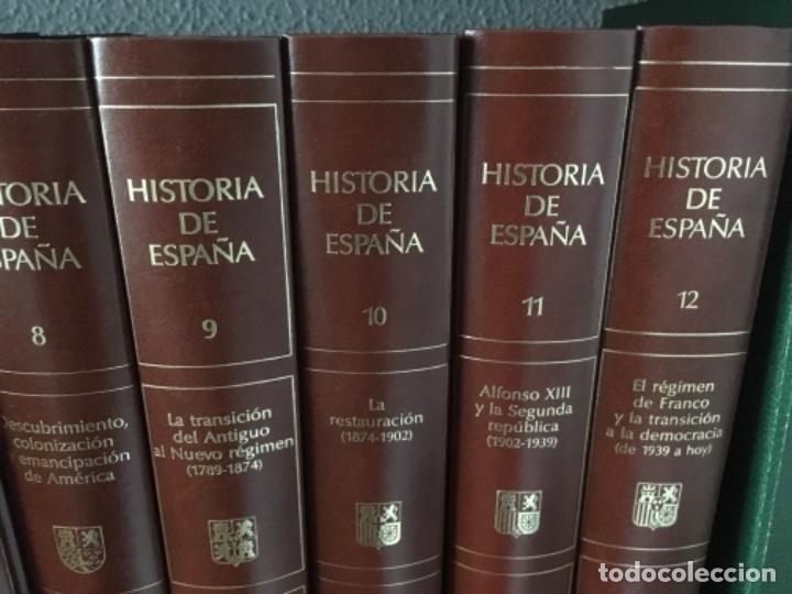 Enciclopedias de segunda mano: HISTORIA DE ESPAÑA. OBRA EN 12 TOMOS DE EDITORIAL PLANETA, 1990. - Foto 4 - 153789714