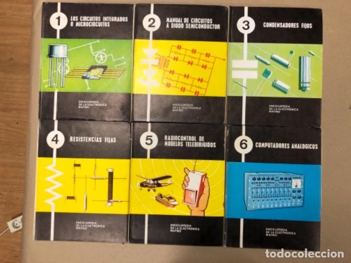 ENCICLOPEDIA DE LA ELECTRÓNICA MAYMO. PRIMEROS 6 TOMOS. EDITORIAL ELPO 1968. VER DESCRIPCIÓN. (Libros de Segunda Mano - Enciclopedias)