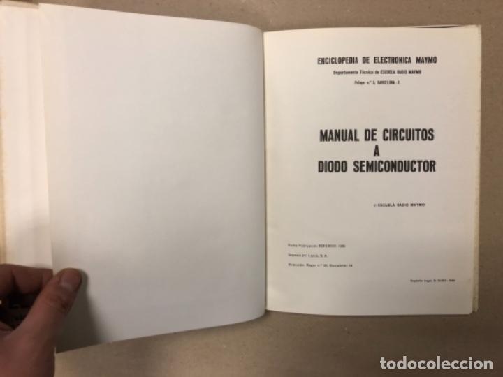 Enciclopedias de segunda mano: ENCICLOPEDIA DE LA ELECTRÓNICA MAYMO. PRIMEROS 6 TOMOS. EDITORIAL ELPO 1968. VER DESCRIPCIÓN. - Foto 9 - 154952766
