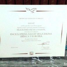 Enciclopedias de segunda mano: ENCICLOPEDIA COMPLETA FAUNA IBÉRICA - EL HOMBRE Y LA TIERRA - EDITORIAL SALVAT 1992. Lote 155290834