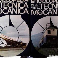 Enciclopedias de segunda mano: 8 ENCICLOPEDIAS DE LA TÉCNICA Y DE LA MECÁNICA . Lote 155504998