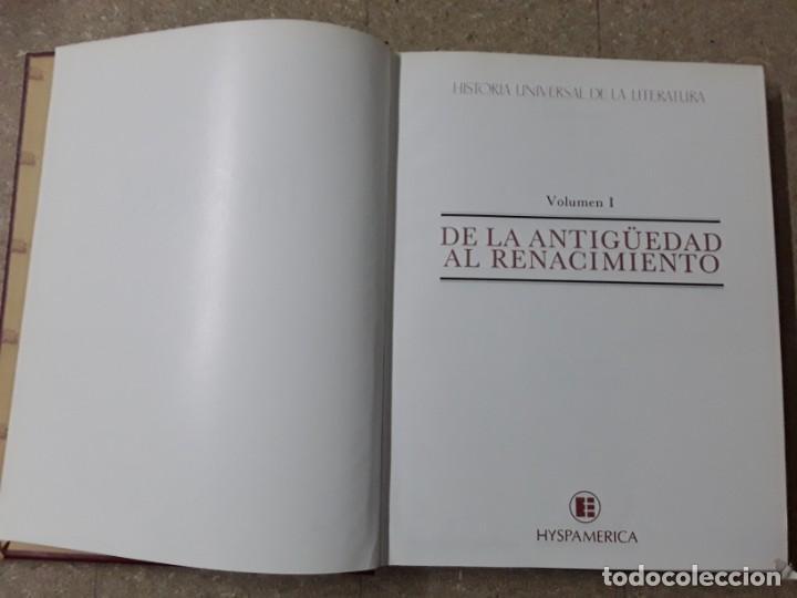 Enciclopedias de segunda mano: Volumen número 1 de historia universal de la literatura - de la antigüedad al renacimiento - Foto 2 - 155680878