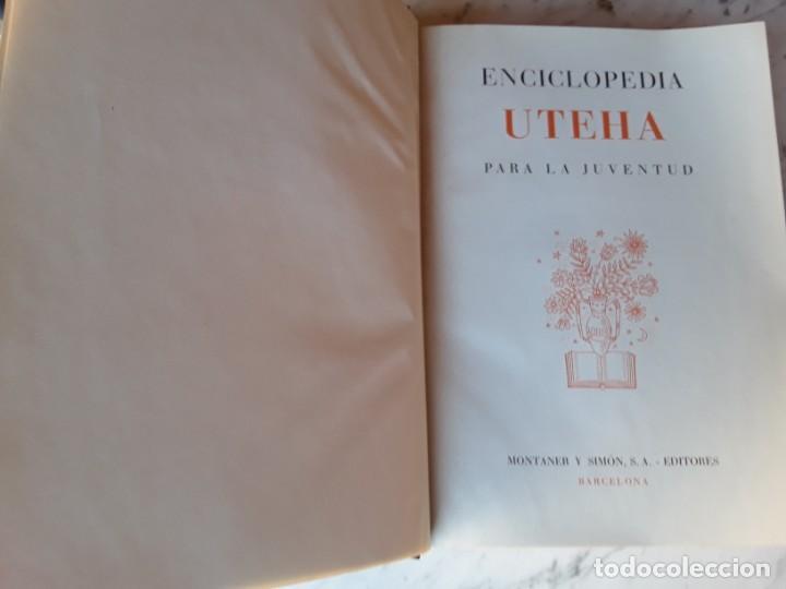 Enciclopedias de segunda mano: 10 tomos de la enciclopedia uteha para la juventud, del año 1960,ver fotos - Foto 4 - 155812322
