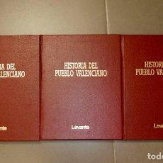 Enciclopedias de segunda mano: HISTORIA DEL PUEBLO VALENCIANO 3 TOMOS . Lote 155949646