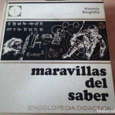 Enciclopedias de segunda mano: ENCICLOPEDIA MARAVILLAS DEL SABER (TOMO Nº 1) - HISTORIA BIOGRAFÍA. Lote 156691914