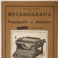 Enciclopedias de segunda mano: PEQUEÑA ENCICLOPEDIA PRÁCTICA Nº 15 .MECANOGRAFÍA, TAQUIGRAFÍA A MÁQUINA. Lote 194980935
