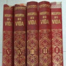 Enciclopedias de segunda mano: 5 TOMOS ENCICLOPEDIA DE LA VIDA. EDIT.BRUGUERA. 1970. Lote 158124414
