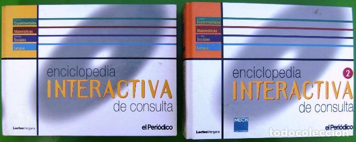 LOTE ENCICLOPEDIA INTERACTIVA DE CONSULTA 1ª Y 2ª ETAPA - 28 CD-ROM EN 2 CARPETAS (Libros de Segunda Mano - Enciclopedias)