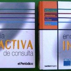 Enciclopedias de segunda mano: LOTE ENCICLOPEDIA INTERACTIVA DE CONSULTA 1ª Y 2ª ETAPA - 28 CD-ROM EN 2 CARPETAS. Lote 158708422