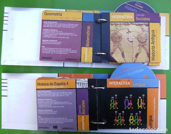 Enciclopedias de segunda mano: Lote Enciclopedia Interactiva de Consulta 1ª y 2ª etapa - 28 CD-ROM en 2 carpetas - Foto 2 - 158708422
