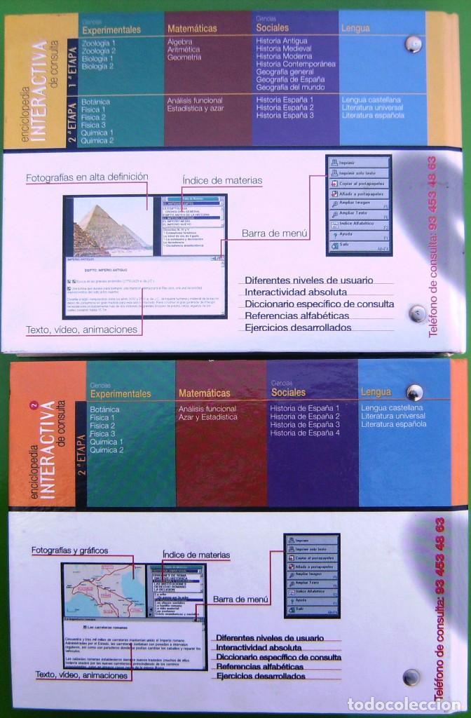 Enciclopedias de segunda mano: Lote Enciclopedia Interactiva de Consulta 1ª y 2ª etapa - 28 CD-ROM en 2 carpetas - Foto 3 - 158708422