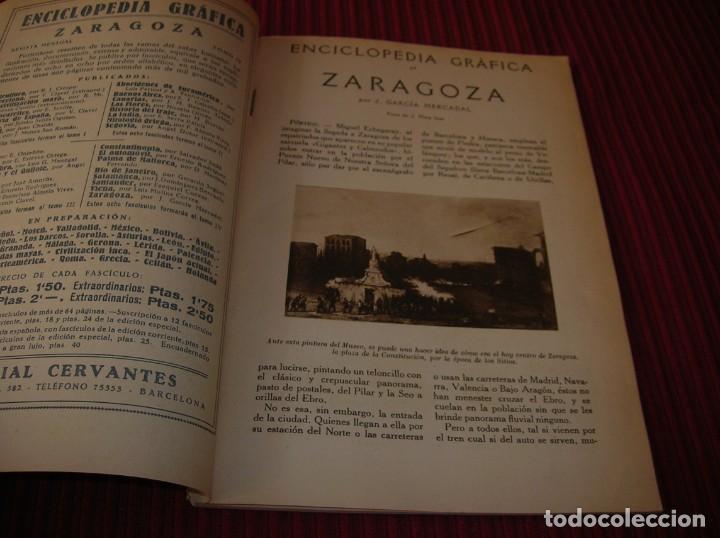 Enciclopedias de segunda mano: Muy interesante y antiguo libro Enciclopedia Gráfica .Zaragoza.Por J.Garcia Mercadal. - Foto 2 - 159263562
