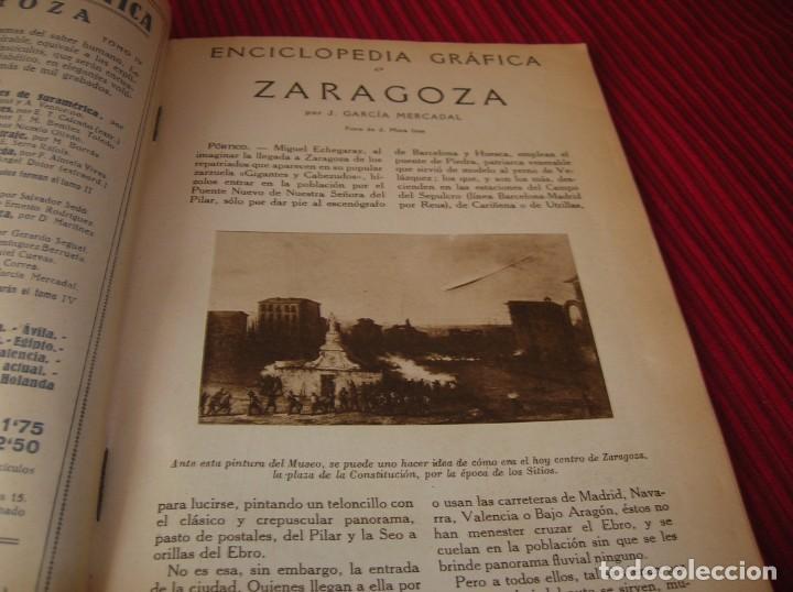 Enciclopedias de segunda mano: Muy interesante y antiguo libro Enciclopedia Gráfica .Zaragoza.Por J.Garcia Mercadal. - Foto 3 - 159263562