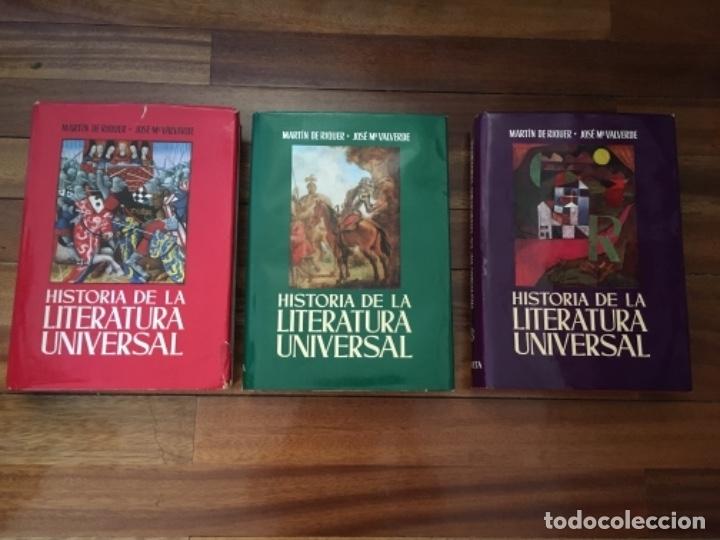Enciclopedias de segunda mano: HISTORIA DE LA LITERATURA UNIVERSAL. RIQUER Y VALVERDE. PLANETA, 1968. OBRA EN 3 TOMOS - Foto 4 - 153829694