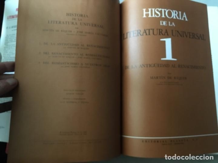 Enciclopedias de segunda mano: HISTORIA DE LA LITERATURA UNIVERSAL. RIQUER Y VALVERDE. PLANETA, 1968. OBRA EN 3 TOMOS - Foto 5 - 153829694