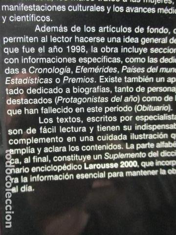 Enciclopedias de segunda mano: LAROUSSE 2000 / TOMO ACTUALIZACIÓN 1999 / LAROUSSE - PLANETA 1999 - Foto 6 - 159798962