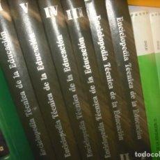Enciclopedias de segunda mano: ENCICLOPEDIA TÉCNICA DE EDUCACIÓN. Lote 160707230