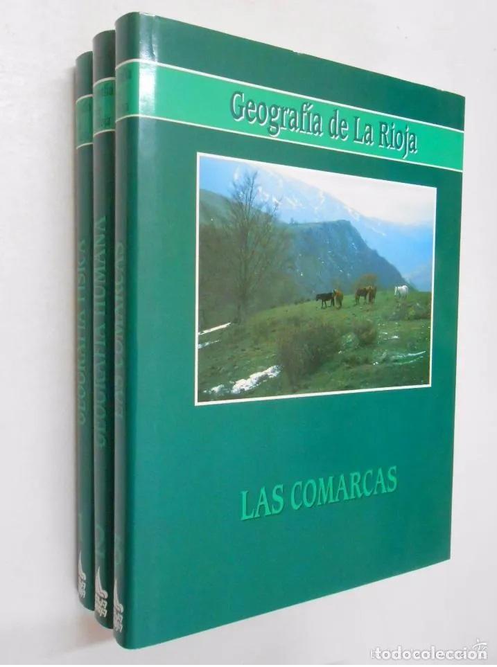 GEOGRAFIA DE LA RIOJA. VV.AA. 3 VOLUMENES. TOMOS. TDKLT1 (Libros de Segunda Mano - Enciclopedias)