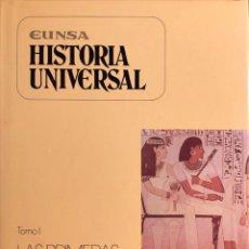 Livros em segunda mão: LAS PRIMERAS CIVILIZACIONES TOMO I. HISTORIA UNIVERSAL. LUIS SUAREZ. EUNSA. PAMPLONA, 1989. Lote 165365590