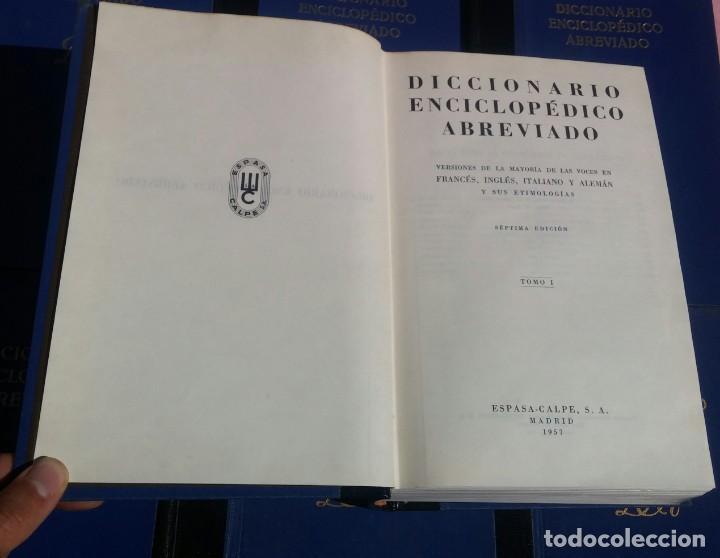 Enciclopedias de segunda mano: Diccionario Enciclopédico Abreviado, 8 Volúmenes, Completo (Espasa Calpe, 1957) // LAROUSSE / SALVAT - Foto 24 - 167418084