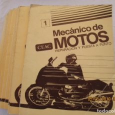 Enciclopedias de segunda mano: MECANICO DE MOTOS , REPARACION Y PUESTA A PUNTO CURSO CEAC - 4 17 TOMOS CON EJERCICIOS . Lote 167442912