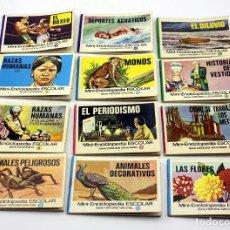 Livres d'occasion: LOTE DE 12 MINI ENCICLOPEDIA ESCOLAR BRUGUERA - 1970. Lote 167592988