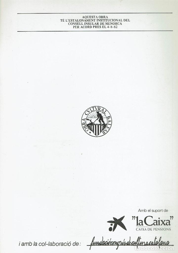 Enciclopedias de segunda mano: ENCICLOPÈDIA DE MENORCA.INVERTEBRATS ARTRÒPODES (I),JOAN LLUÍS PRETUS I REAL. AÑO 1979.(MENORCA.6.8) - Foto 2 - 170948145