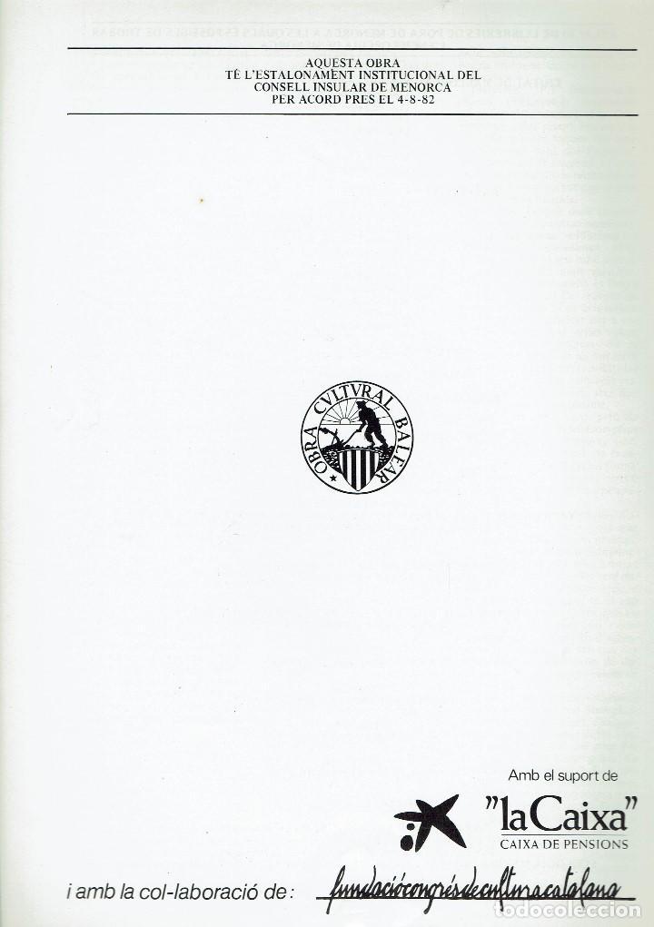 Enciclopedias de segunda mano: ENCICLOPÈDIA DE MENORCA.INVERTEBRATS ARTRÒPODES (VII), LLORENÇ PONS I MADRID. AÑO 1979.(MENORCA.6.8) - Foto 2 - 170949145