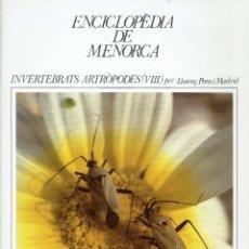 Enciclopedias de segunda mano: ENCICLOPÈDIA DE MENORCA.INVERTEBRATS ARTRÒPODES (VIII), LLORENÇ PONS I MADRID. AÑO 1979(MENORCA.1.5). Lote 170949280