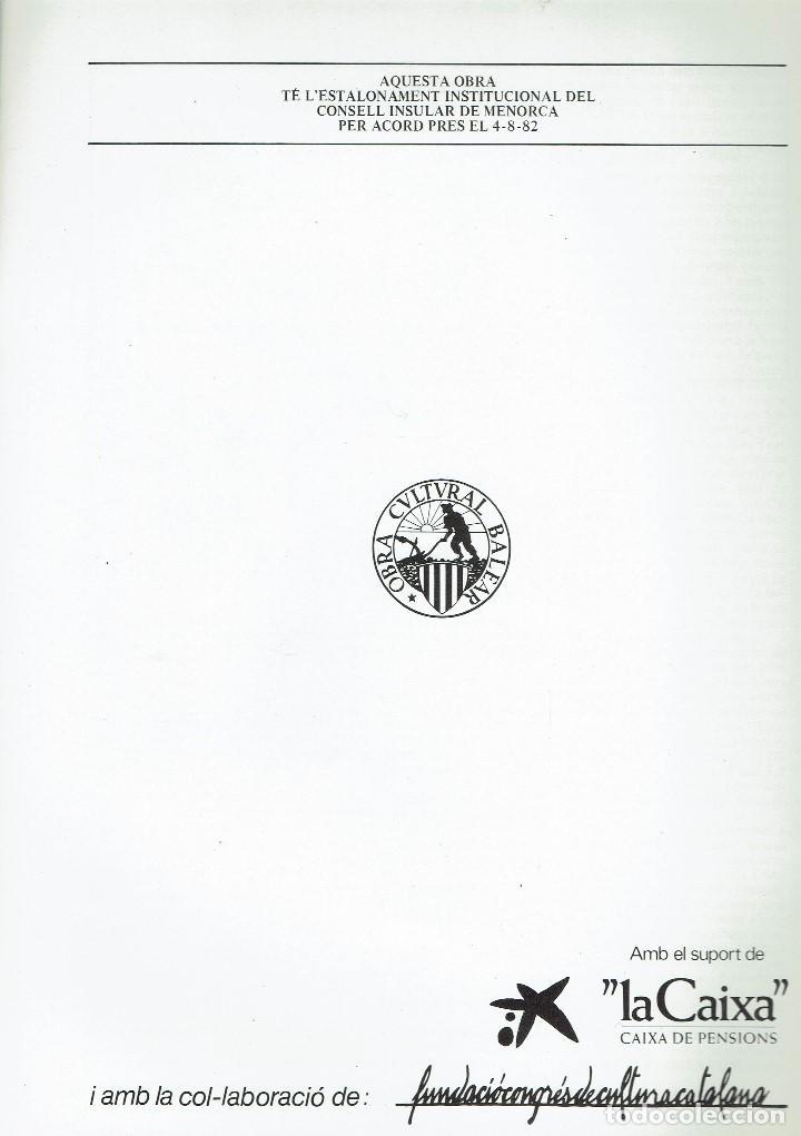 Enciclopedias de segunda mano: ENCICLOPÈDIA DE MENORCA.INVERTEBRATS ARTRÒPODES (VIII), LLORENÇ PONS I MADRID. AÑO 1979(MENORCA.6.8) - Foto 2 - 170949280