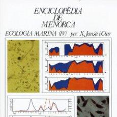 Enciclopedias de segunda mano: ECOLOGIA MARINA (IV), PER X. JANSÀ I CLAR. AÑO 1979. (MENORCA.1.5). Lote 170950085